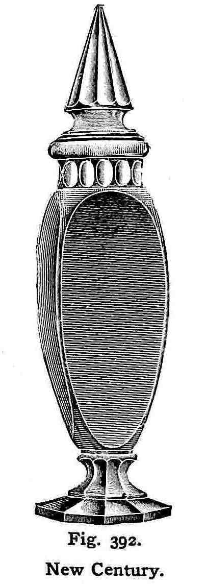 an illustrated 1907 heavy jar for restaurant ladyfinger biscuits, New Century