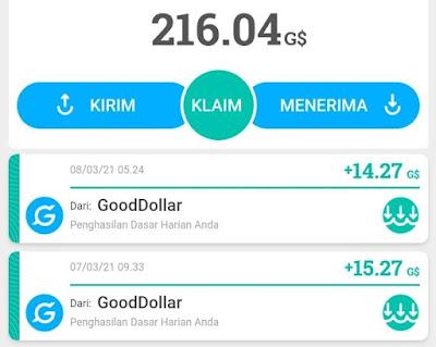 Cara mendapatkan koin GoodDollar G$ dari situs Gooddollar.org