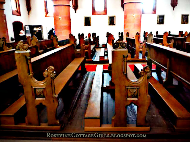 Pews in Saint Marien's Church