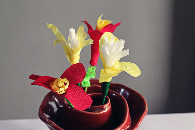 bloemen papier knutselen