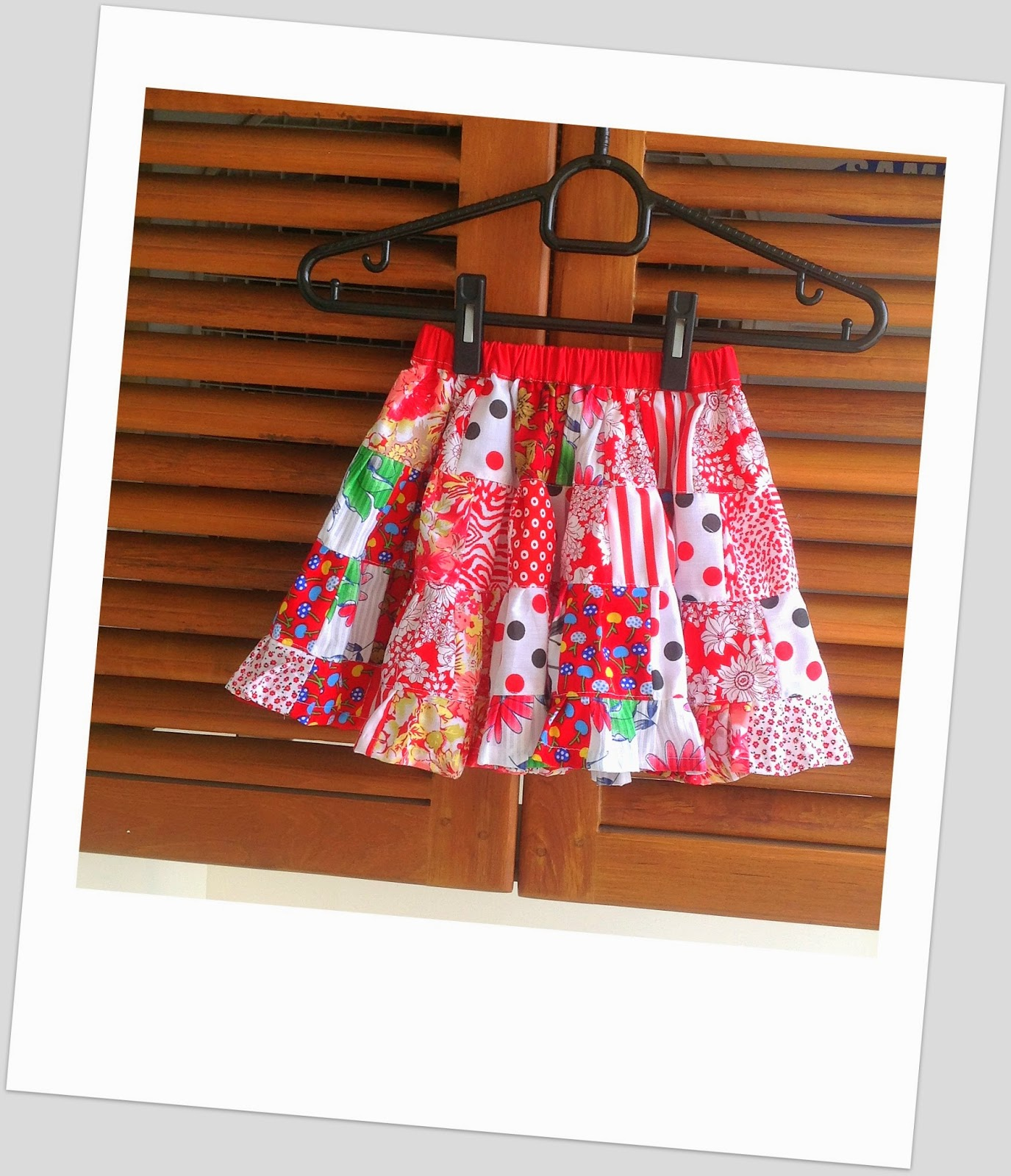 Sewing Patterns for Girls Dresses and Skirts: Scrap Skirt