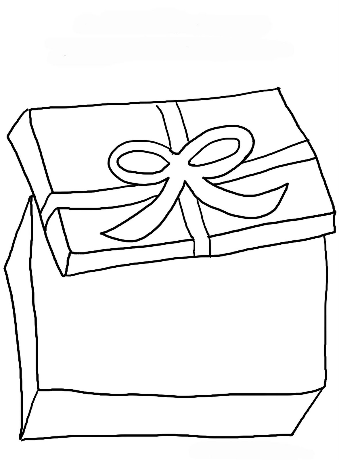 Ribbon T Boxes Coloring Pages