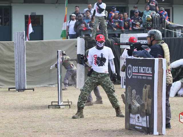 Yonarmed 11 Kostrad Gelar Airsoft Gun Argo VI di Magelang