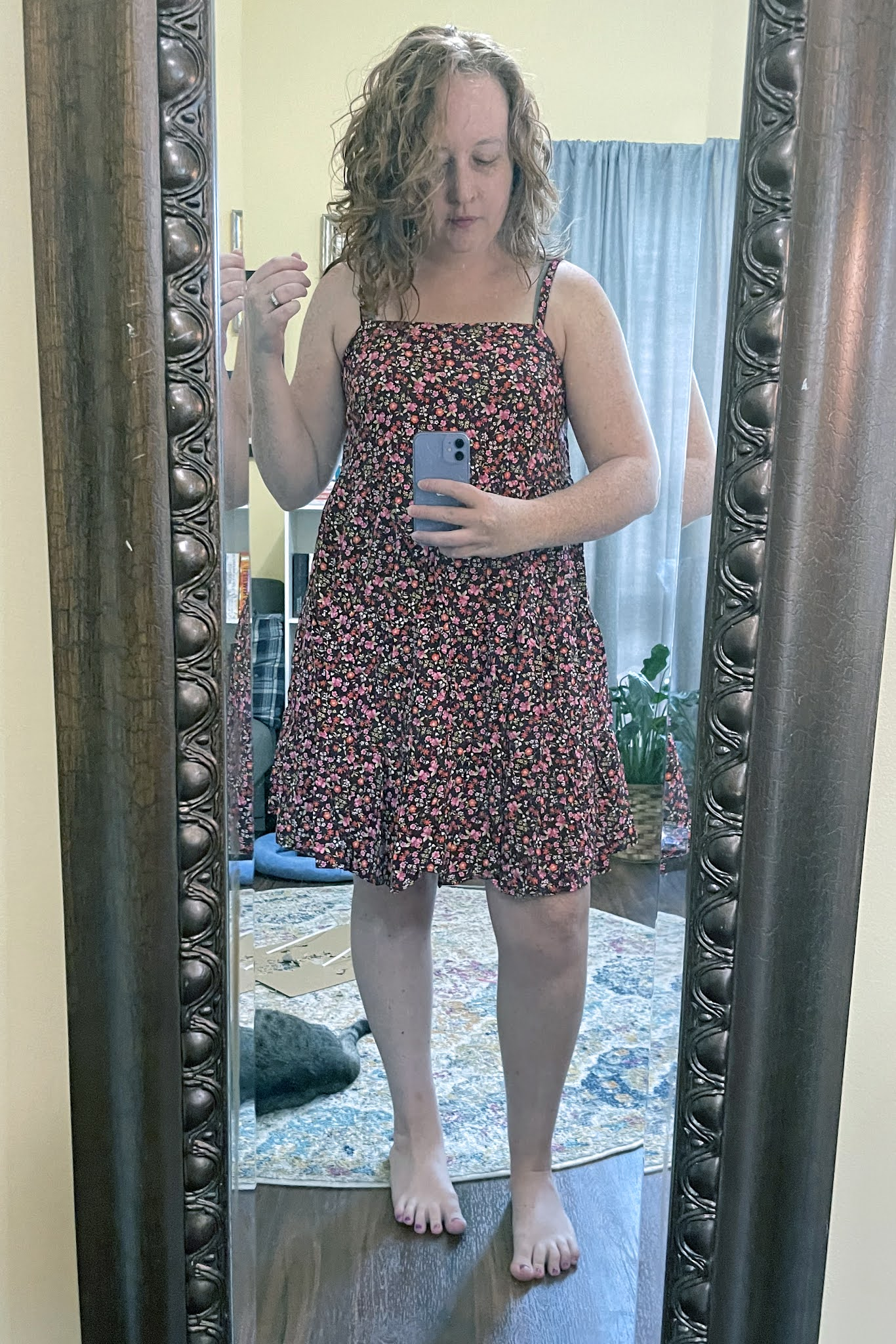 burgundy-floral-tiered-swing-dress