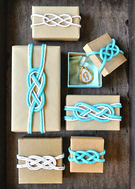 knot gift wrap idea