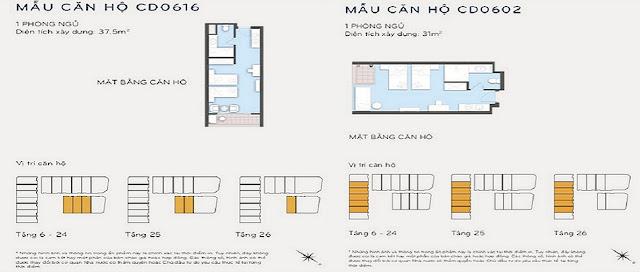 Thiết kế căn hộ 37m2 và 31m2 Eastin Phát Linh