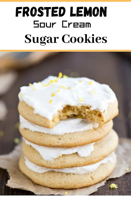 Frosted Lemon Sour Cream Sugar Cookies #Frosted #Lemon #Sour #Cream #Sugar #Cookies Cookie Recipes Chocolate Chip, Cookie Recipes Easy, Cookie Recipes Christmas, Cookie Recipes Keto,