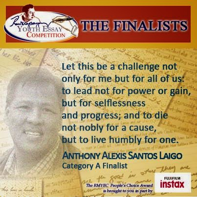 Ramon magsaysay student essay competition