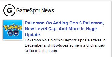 Gamespot Pokémon GO Atualização