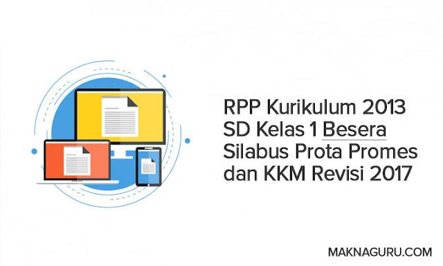RPP Kurikulum 2013 SD Kelas 1 Besera Silabus Prota Promes dan KKM Revisi 2017