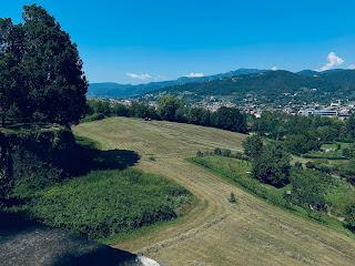 View north over Baluardo della Fara – mowed fields.