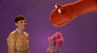 Ginnifer Goodwin talks about adventure with Abby. the Word on the Street adventure. Sesame Street Episode 4418 The Princess Story season 44