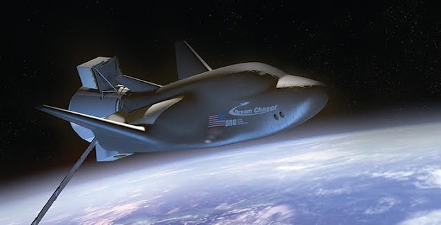Artist's rendering of a cargo version of the Dream Chaser spacecraft. Credit: SNC
