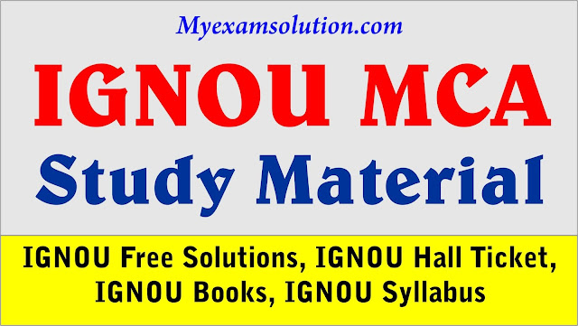 Master of Computer Applications, MCA Study Material
