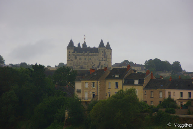 Vista del Castello di Saumur nella Valle della Loira