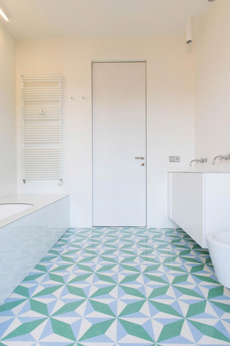 pavimento in graniglia bagno moderno