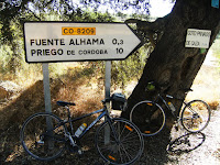 A Rest stop our Cycling Country Andalucian BikeTrip
