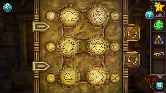 открываем сейф, устанавливая для совпадения символов между собой