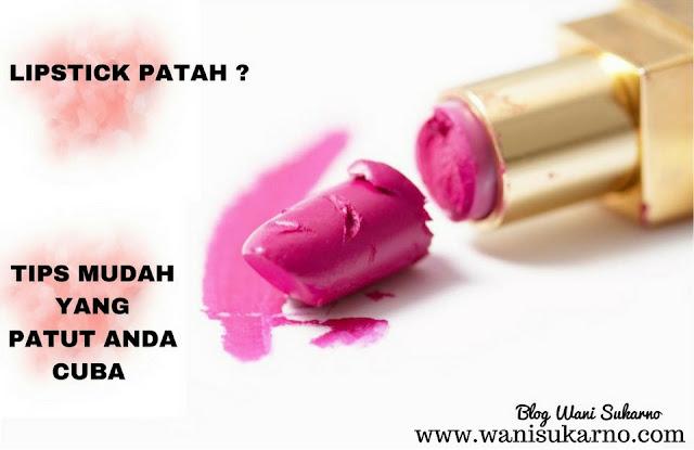 Tips untuk menyambung lipstick patah