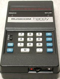 "Kalkulator Saku Elektronik Menggunakan LED Display (Busicom LE-120A ""HANDY"")"