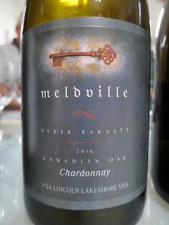 Meldville Chardonnay Canadian Oak 2016 (90 pts)