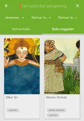 buku berbahasa Jawa pada aplikasi Let's Read