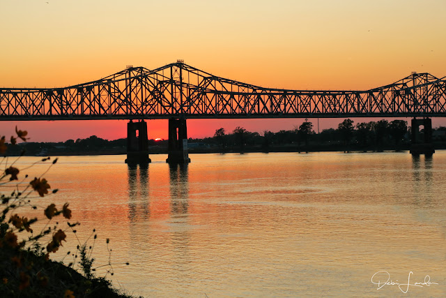 Stunning sunsets at Natchez Under-the-Hill.