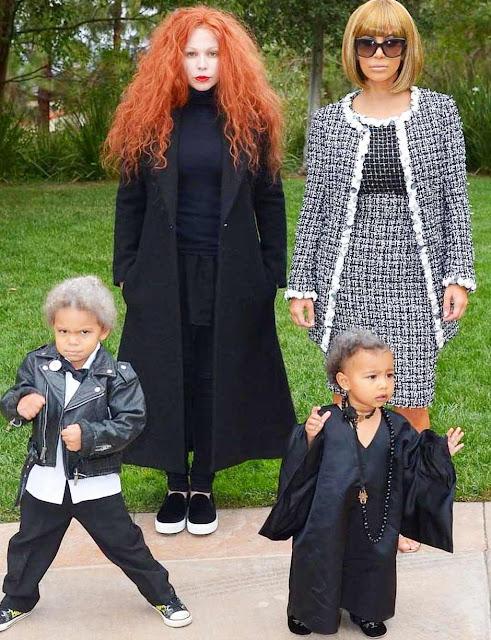 Kim kardashian filhos no halloween