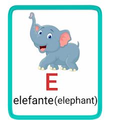 e- alphabet in spanish