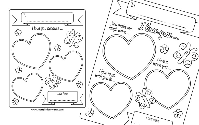 reasons I love you printable worksheets