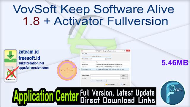 VovSoft Keep Software Alive 1.8 + Activator Fullversion