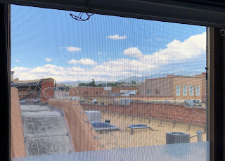 View of mountains from Santa Fe window