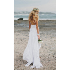 beach wedding dress low back