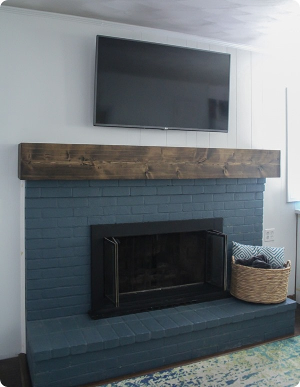 How to build a chunky wood mantel