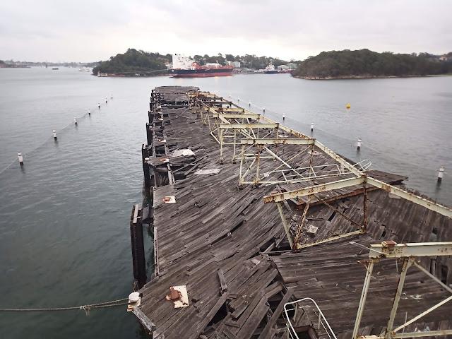 Damaged old wharf