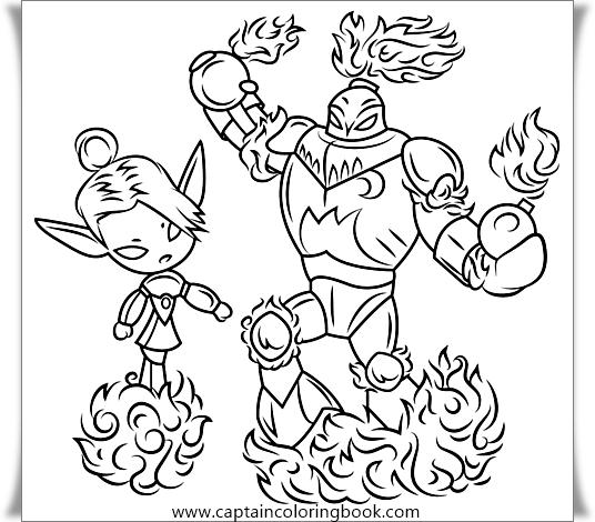 Skylanders giants coloring pages sprocket fraggle | 470x536