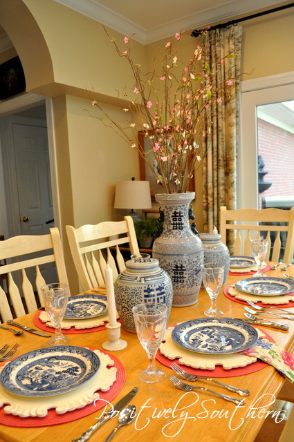 Blue Willow Tablescape
