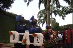 "Veteran highlife musican,""Dr Victor Abimbola Olaiya"" today in lagos"