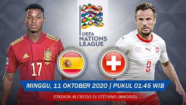 Prediksi Spanyol Vs Swiss, Minggu 11 Oktober 2020 Pukul 01.45 WIB @ Mola TV