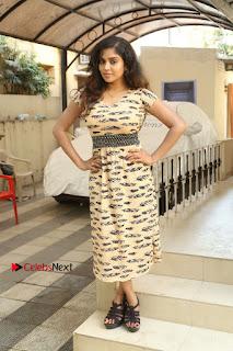 Telugu Actress Karunya Chowdary Stills in Short Dress at ATM Not Working Press Meet  0293.jpg