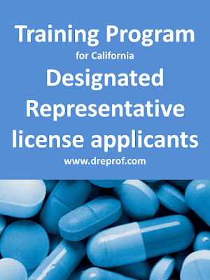 Board-approved California Designated Representative online training programs for wholesalers, 3PL, third-party logistics provider, reverse distributors. Earns a training affidavit.