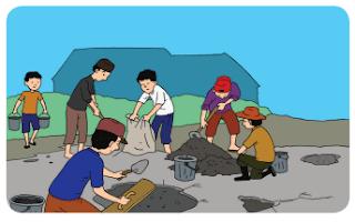 Warga Kelurahan Rawa Badak Utara Rutin Kerja Bakti www.simplenews.me