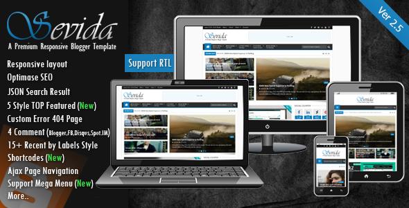 Sevida v2.5 -Latest Magazine Responsive Blogger Template Free Download