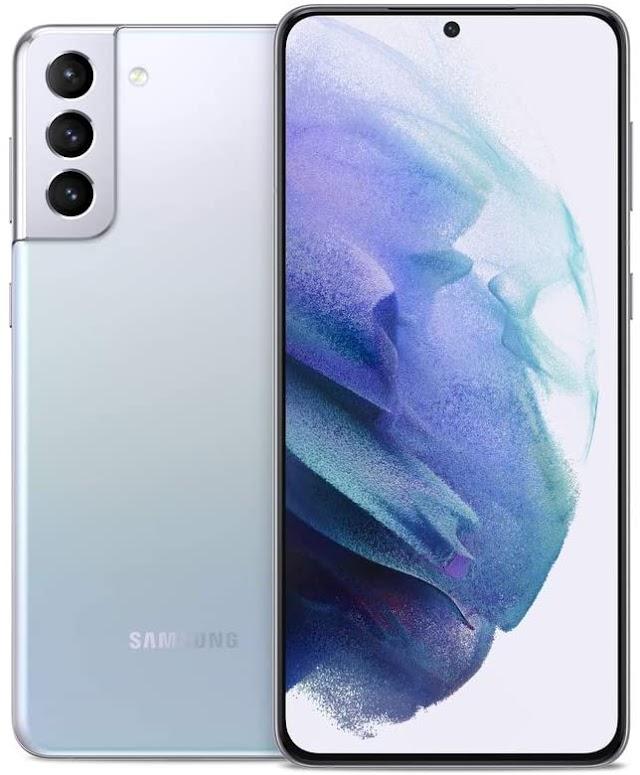 Samsung Galaxy S21+ Plus 5G   Factory Unlocked Android Cell Phone   US Version 5G Smartphone   Pro-Grade Camera, 8K Video, 12MP High Res   128GB, Phantom Silver (SM-G996UZVAXAA)