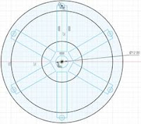 Center Circle of Clock Wheel