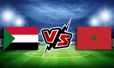 المغرب و السودان بث مباشر