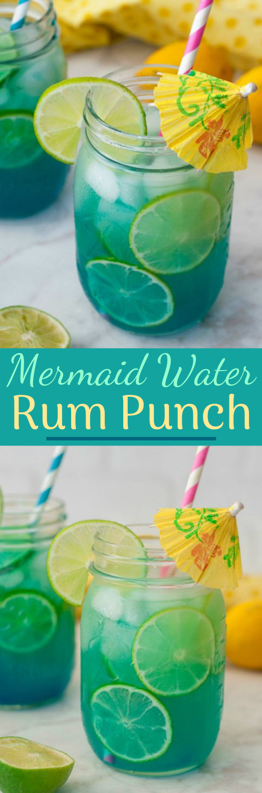 Mermaid Water Rum Punch #freshdrink #cocktail