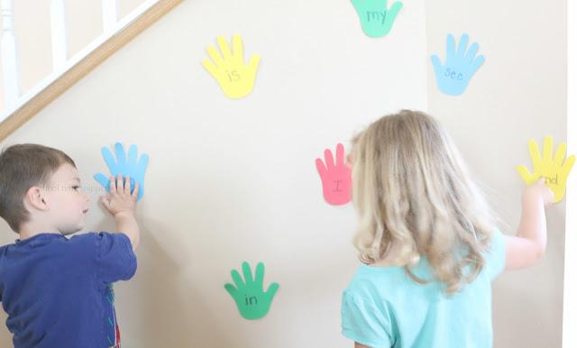 fun DIY sight word game for kids