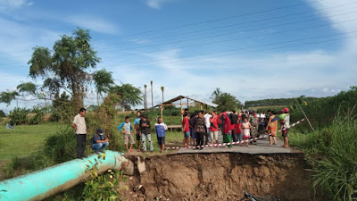 Jembatan di Deliserdang Makan Korban Kedua Kali, Pemotor Jatuh, Mayatnya Hanyut ke Sungai Batang Kuis