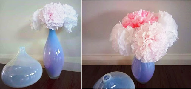 Tissue paper flowers - simple and really pretty craft. #simplecraft